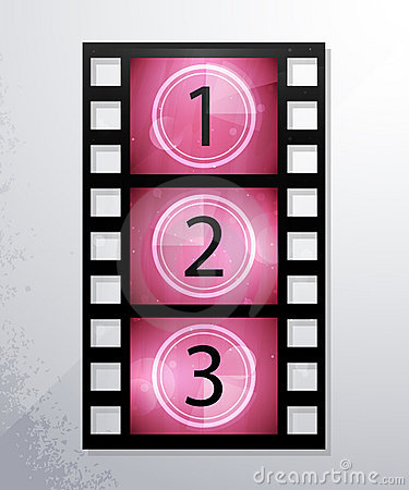 Vector icons of film. eps10, and transparency.