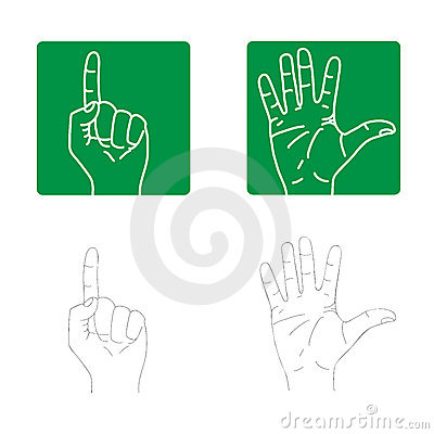 Vector Icons Of The Hands Royalty Free Stock Photos - Image: 3305458