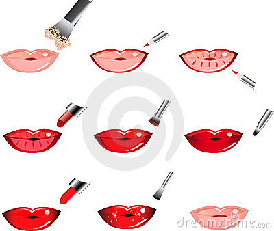 Vector Icons How To Apply  Makeup, Lip