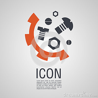 Free Vector Icons In The Form Of Nuts And Bolts  Gear Wheel. Royalty Free Stock Image - 84233886