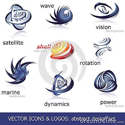 Free Vector Icons & Logos Set Stock Photos - 15174203