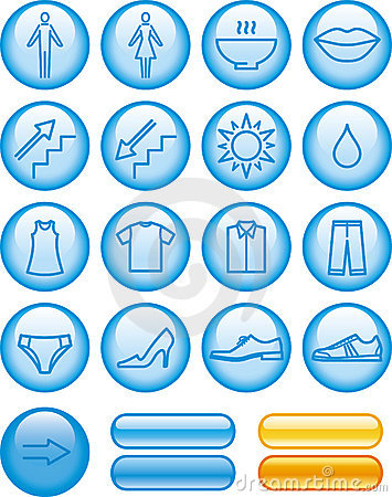 Vector Icons Set - Shopping Center