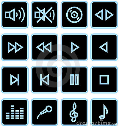 Vector Icons Set - Sound