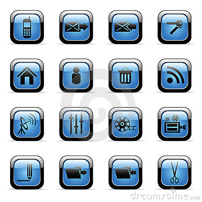 Vector icons set for web applications