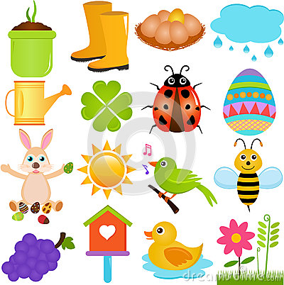 Vector Icons : Spring Season Theme