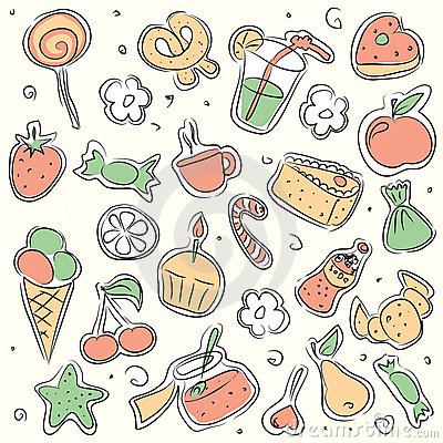 Vector illustrated sweets