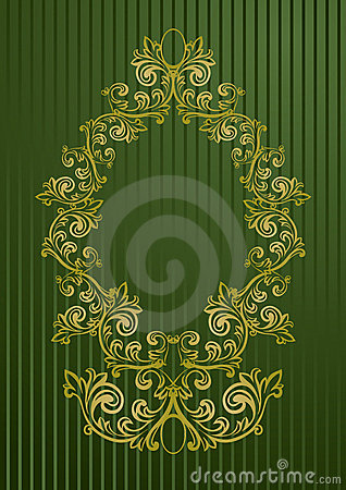 Vector illustration of an abstract floral frame