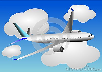 Vector illustration of airplane or airbus plane