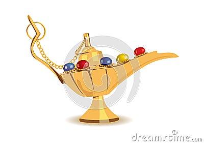 Vector illustration of aladdin s magic lamp