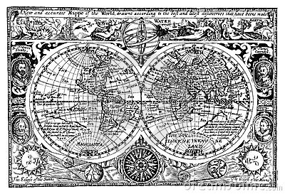 Vector illustration antique world map vector illustration vector illustration antique world map vector illustration gumiabroncs Image collections