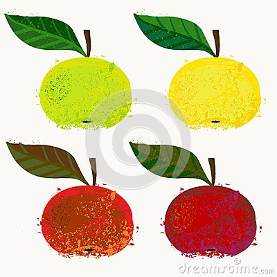 Vector illustration of apple fruits