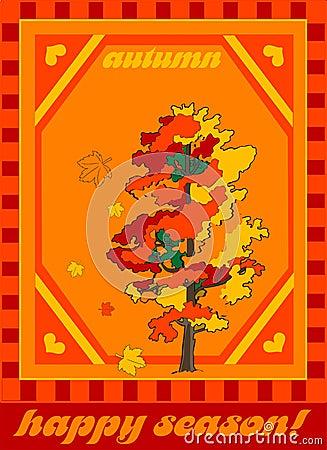Vector illustration- autumn