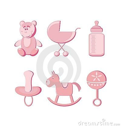 Vector illustration - baby icons set