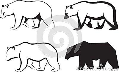 Vector illustration bear.