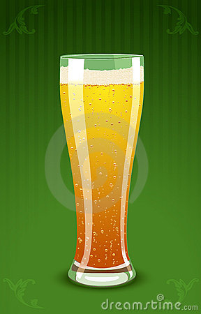 Vector illustration of a beer glass