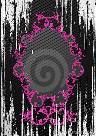 Vector illustration of black grunge frame