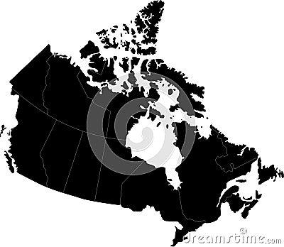 Canada Map Cartoon Illustration