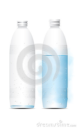 Vector illustration bottle of water