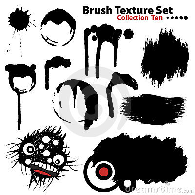 Vector illustration brush set 10