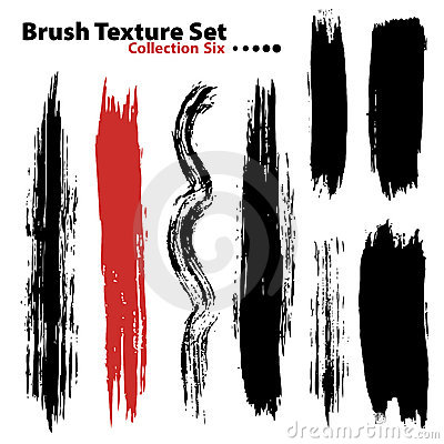 Vector illustration brush set 6