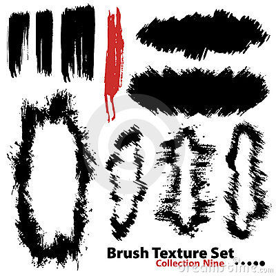 Vector illustration brush set 9
