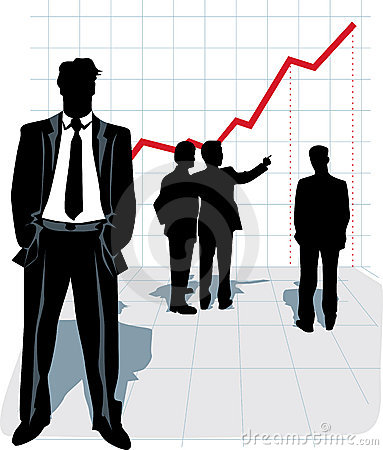 Vector illustration of businessman silhouette.