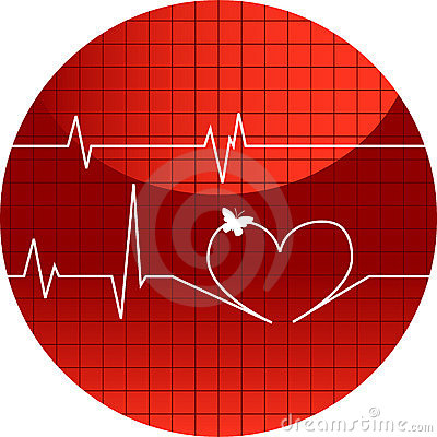 Free Vector Illustration Cardiogram Of Love Stock Photography - 9929512