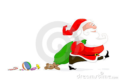 Vector illustration of cartoon santa