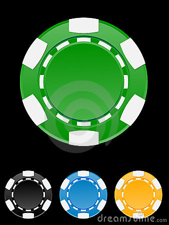 Vector illustration of casino chip