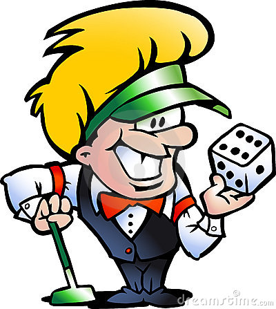 Vector illustration of an Casino Croupier