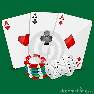 Vector Illustration  casino elements