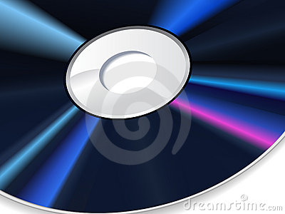 Vector illustration of the cd