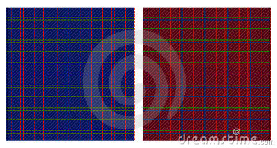 Vector illustration of checkered patterns