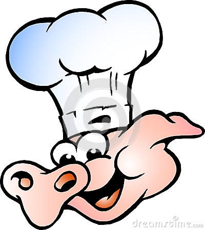 Vector illustration of an Chef Pig Head