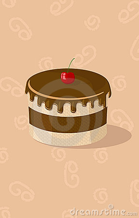 Vector illustration of chocolate cake