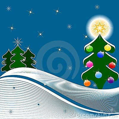 vector Illustration of Christmas Tree