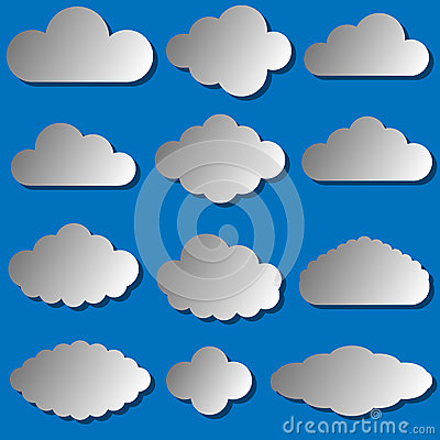 Vector illustration of clouds set