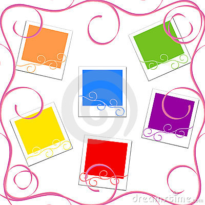 vector illustration of the colored photo frames