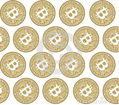 Vector illustration concept of Bitcoin crypto coin symbol. Black on white background Vector Illustration