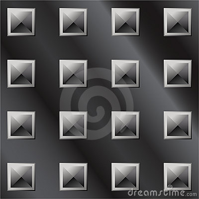 Vector illustration of dark metal pyramid tread