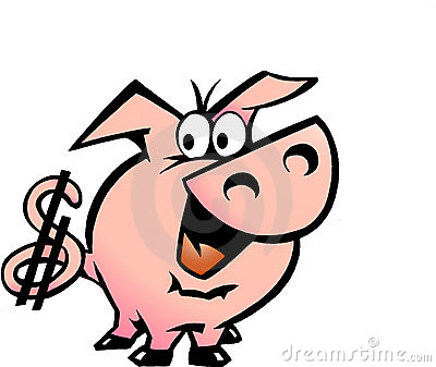 Vector illustration of an Dollar Pig