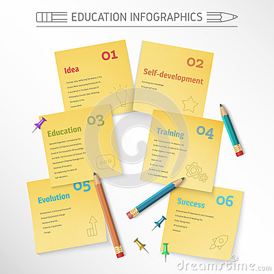 Vector illustration education infographic. Vector Illustration