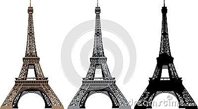 Vector illustration of Eiffel Tower