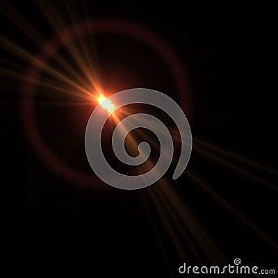 Vector lens flare