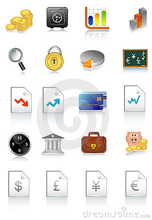 Vector illustration of financial icons