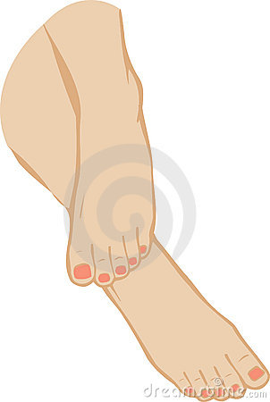 vector illustration of a foot of feet