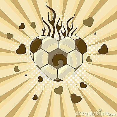 Vector illustration of football. Vector Illustration