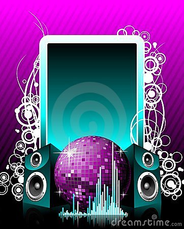 Free Vector Illustration For Musical Theme Royalty Free Stock Image - 5462516