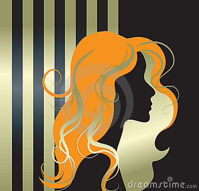 Vector Illustration Of Girl Silhouette Stock Photography - Image: 7889302