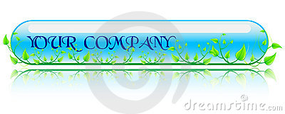 Vector illustration green and blue concept